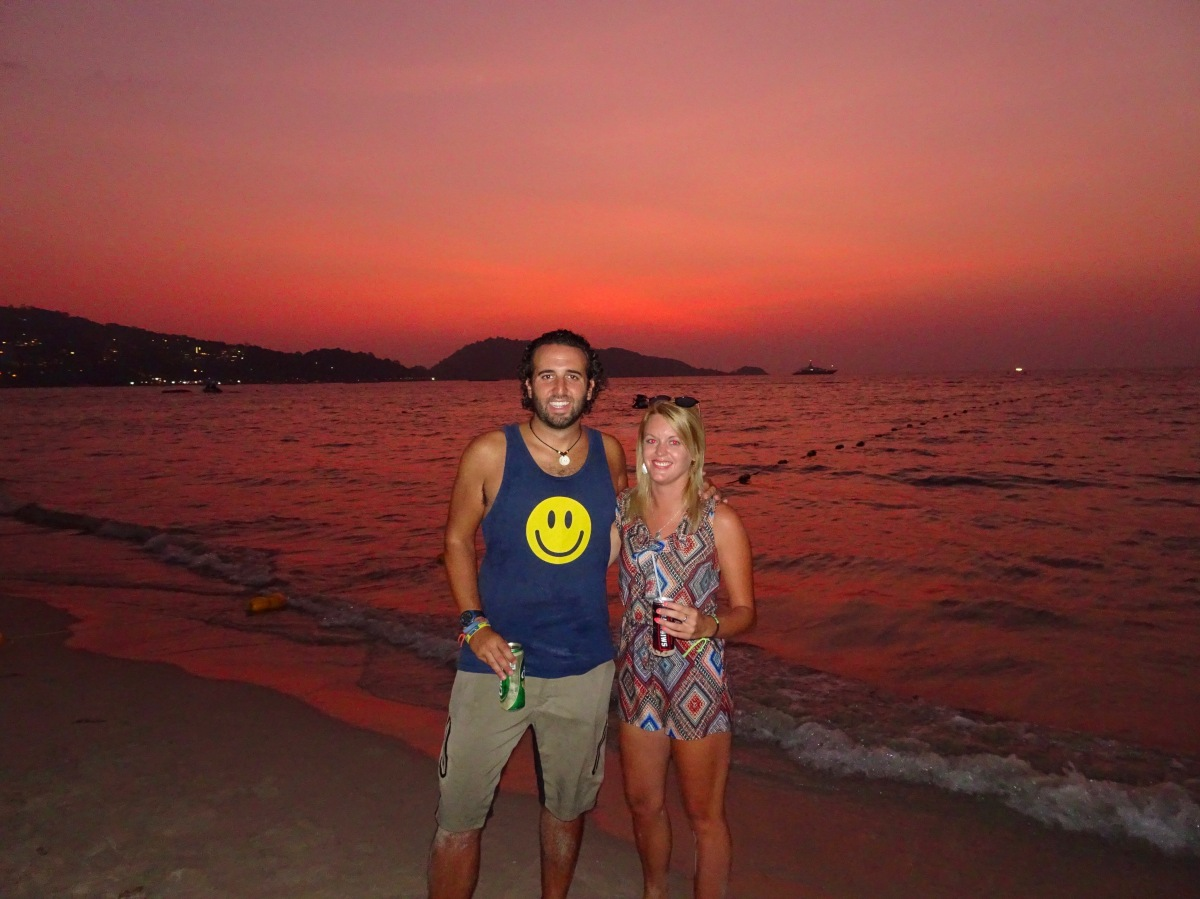 aabd3b770d Sunset on Patong Beach in Phuket with Ciara on night one in the Thai islands